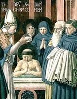 Augustinus wordt gedoopt