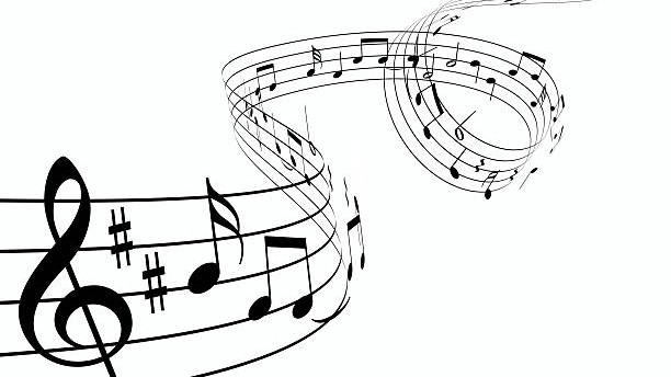 Render of music notes dancing upwards.  You may also like: