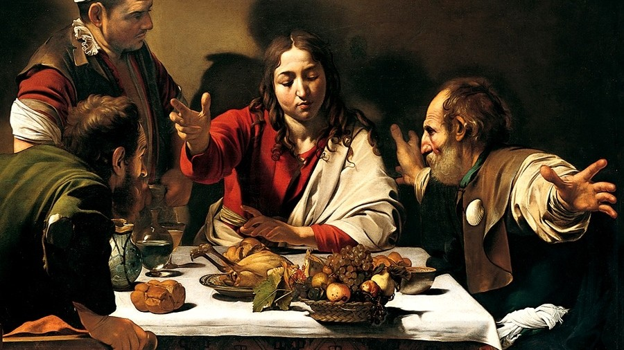 Caravaggio Avondmaal in Emmaüs