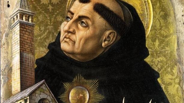 Thomas van Aquino altaarstuk-van-Carlo-Crivelli-detail
