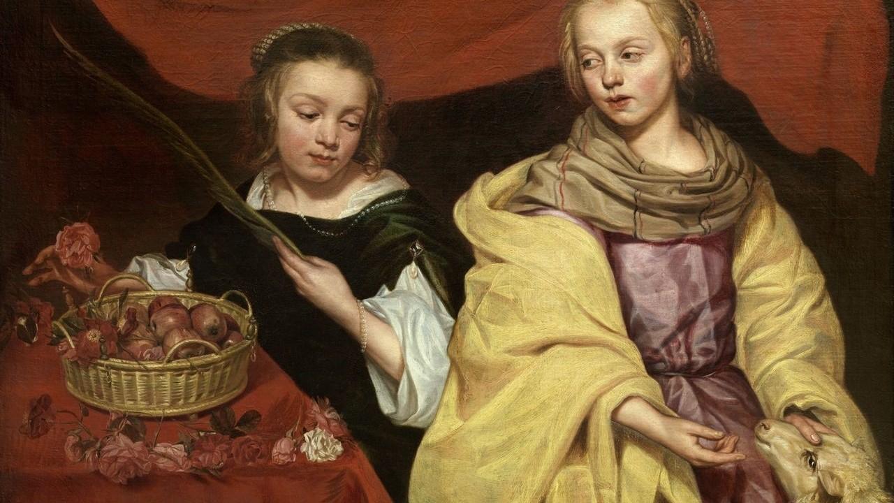 Wautier Schilderij Dorothea en Agnes