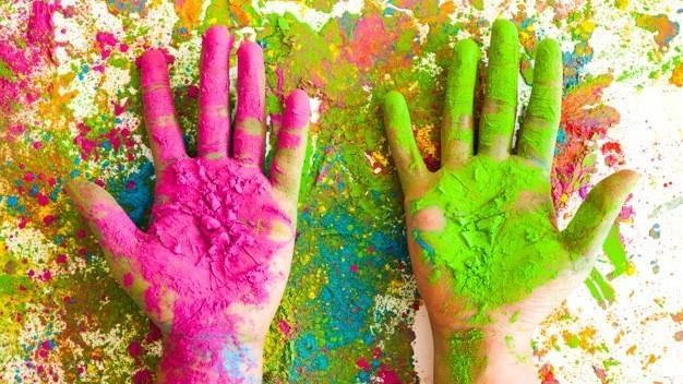 gekleurde hands