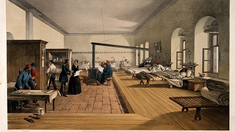 Crimean_War;_Florence_Nightingale_assessing_a_ward_at_the_mi_Wellcome_V0015791